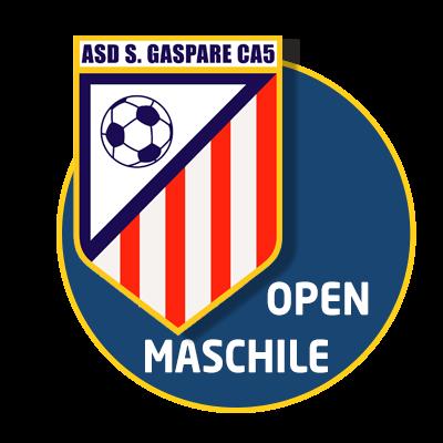 logo open maschile calcio a 5 roma san gaspare